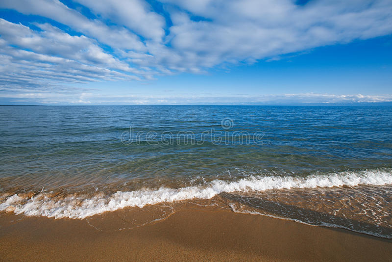 Issyk-Kul Mountain lake in Kyrgyzstan royalty free stock photo