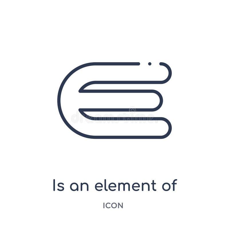 Ist ein Element der Ikone von der Ausbildungsentwurfssammlung linear Dünne Linie ist ein Element der Ikone lokalisiert auf weißem vektor abbildung