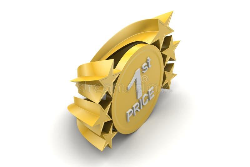 IST-prijs, gouden medel stock illustratie