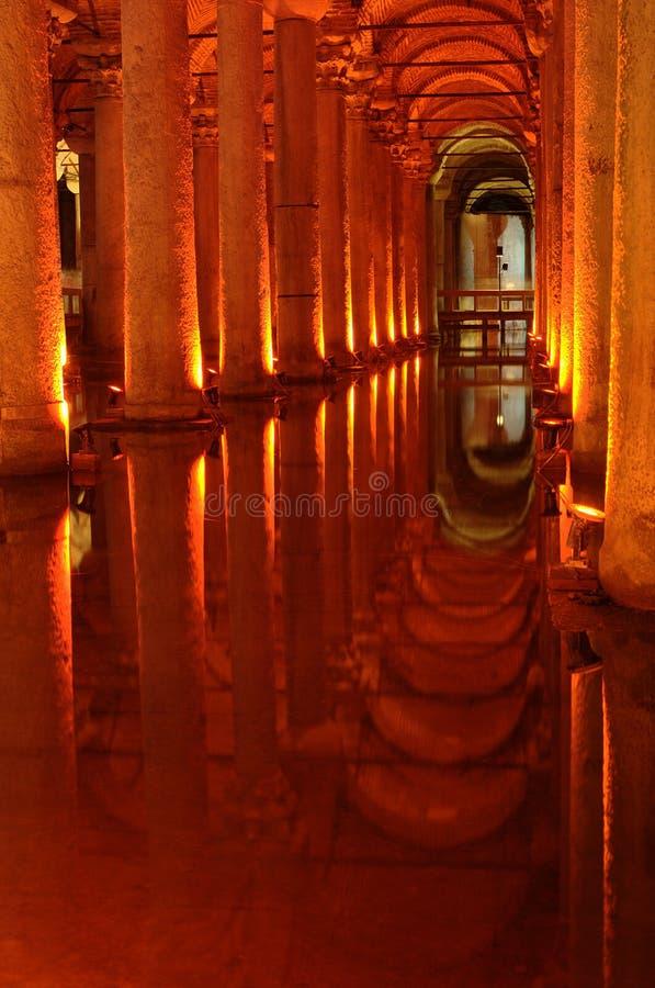 Istambul, cisterna da basílica imagens de stock royalty free