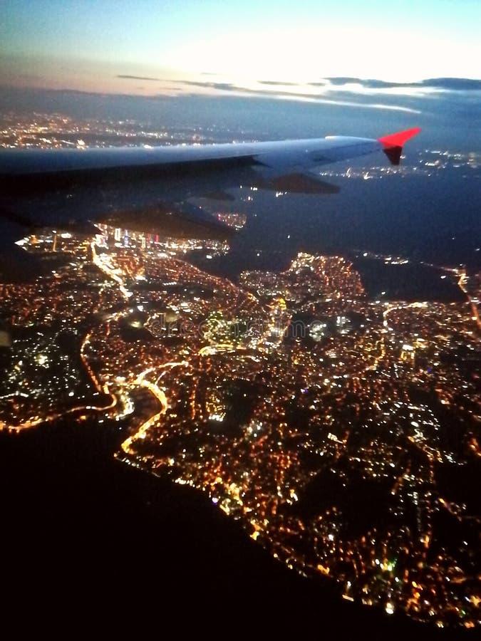Istambul do céu na noite imagem de stock