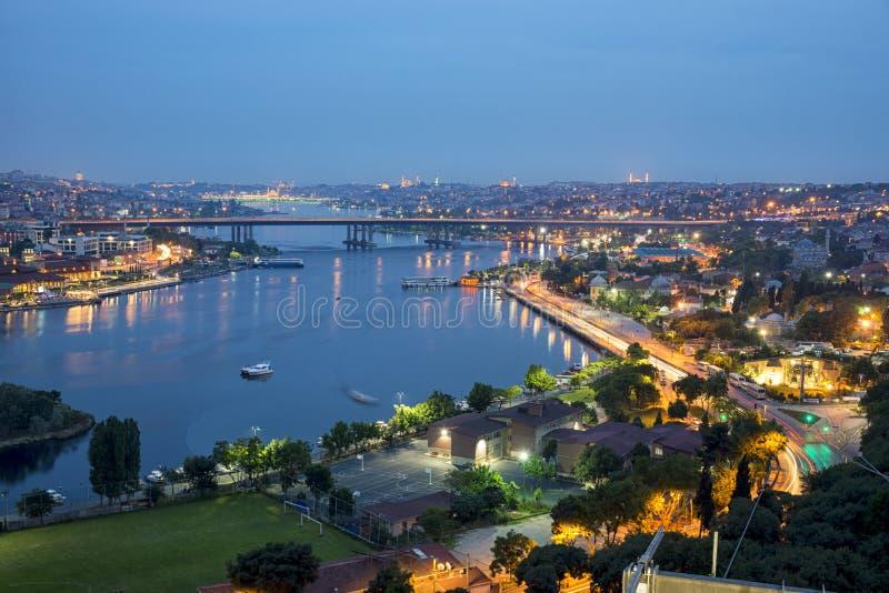 Istambul em a noite foto de stock
