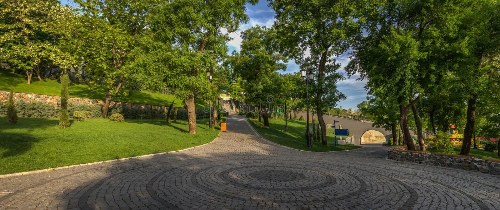 Istambul Park in Odessa, Ukraine royalty free stock photo