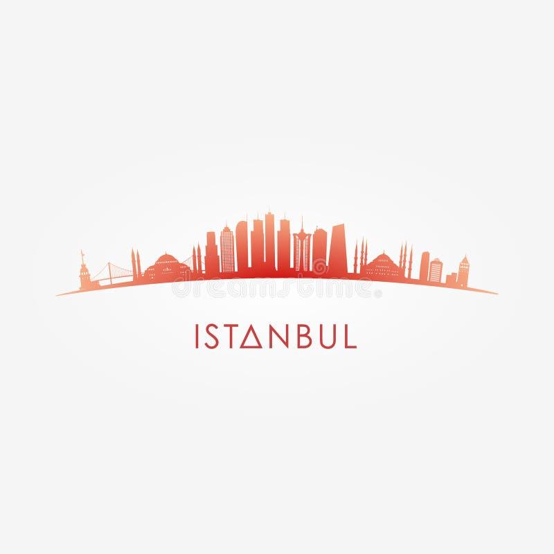Istambul, silhueta da skyline de Turcey ilustração stock