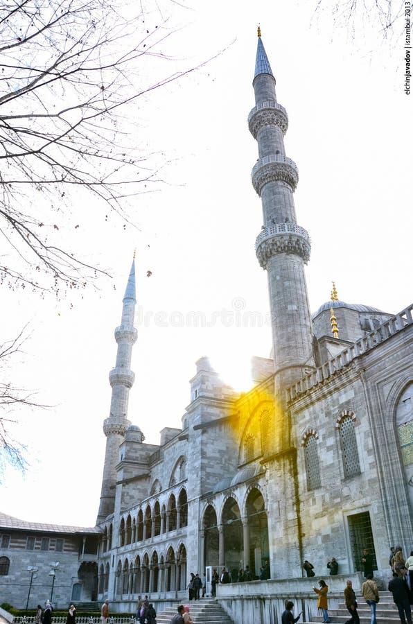 Istambul, Turquia - 18 de janeiro de 2013: Mesquita azul da mesquita de Sultanahmet em Istambul, Turquia imagens de stock