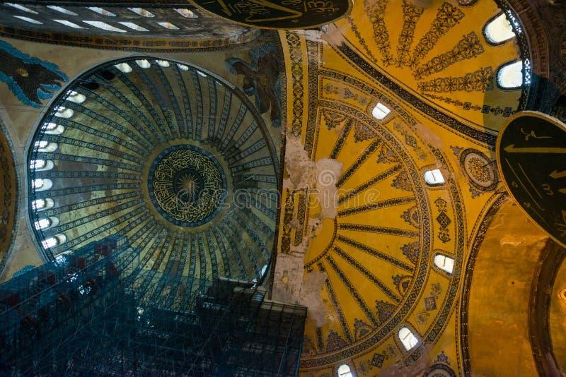 Istambul, Turquia: Hagia Sophia em Istambul Detalhes do interior e da decoração, mosaico de Ayasophia Museu, igreja ortodoxa e fotografia de stock
