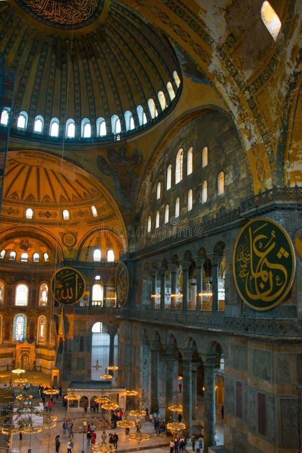 ISTAMBUL, Turquia: Interior do Hagia Sofia Mosque em Istambul, Turquia Hagia Sophia é basílica patriarcal ortodoxo anterior, foto de stock