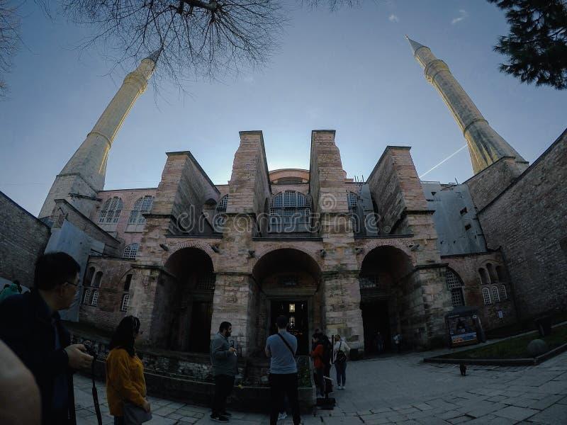 Istambul, Turquia, o 6 de março de 2019: Mesquita de Hagia Sophia imagem de stock royalty free