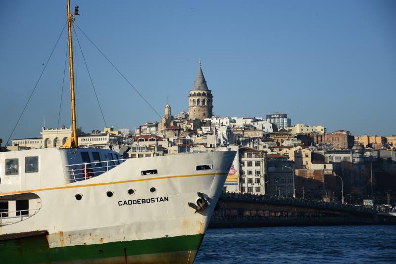 Istambul, Turquia Torre de Galata fotografia de stock royalty free