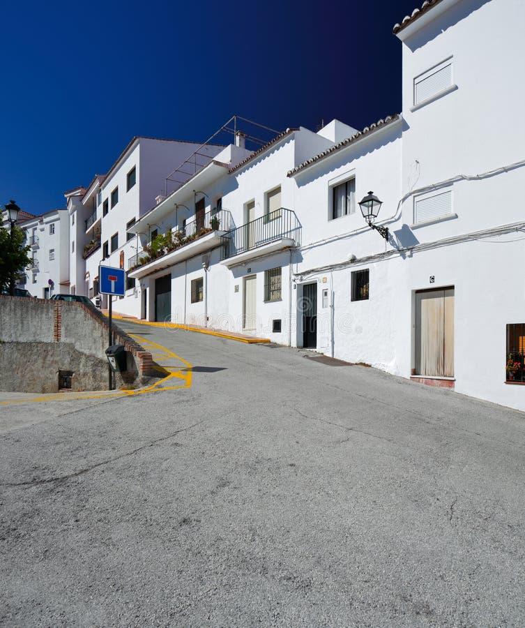 Istan is een mooie stad in de provincie van Malaga in Andalusia, Zuidelijk Spanje stock fotografie
