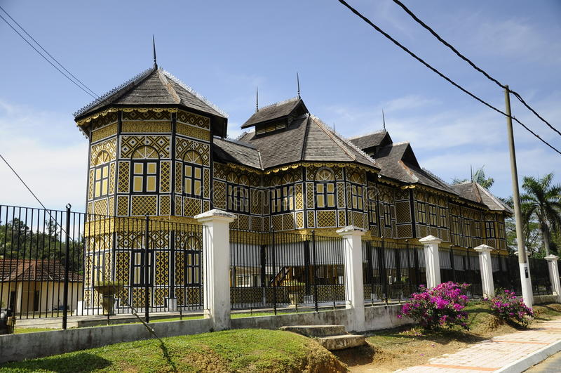Istana Kenangan (Erinnerungs-Palast) in Perak, Malaysia lizenzfreies stockbild