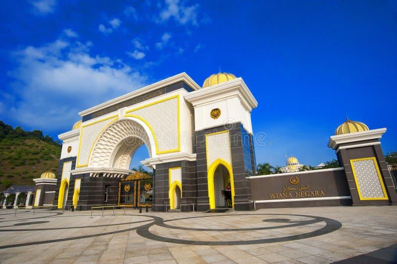 ISTANA NEGARA KRAJOWY pałac - KUALA LUMPUR fotografia stock