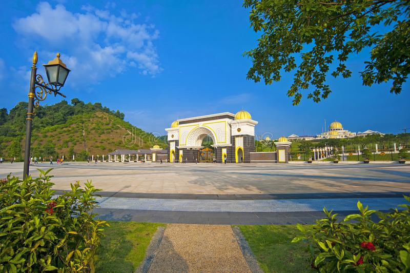 ISTANA NEGARA KRAJOWY pałac - KUALA LUMPUR obraz royalty free
