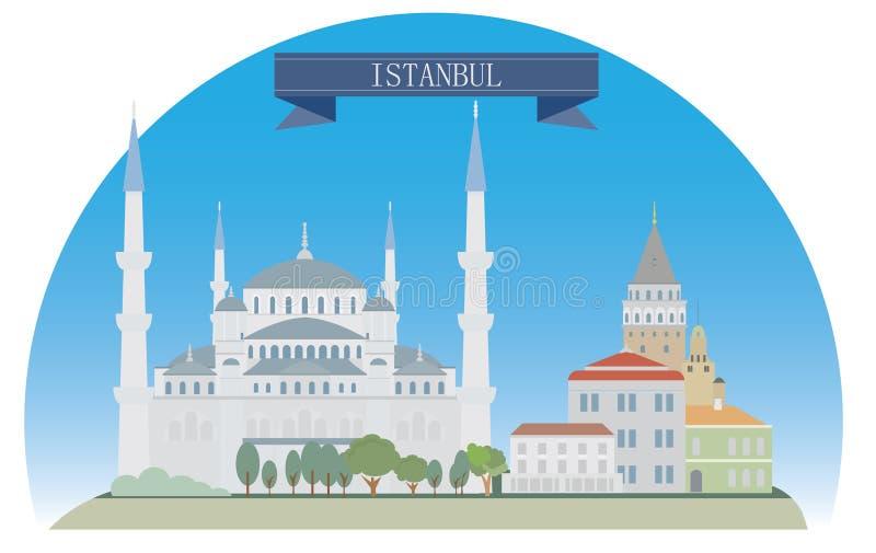 Istanboel stock illustratie