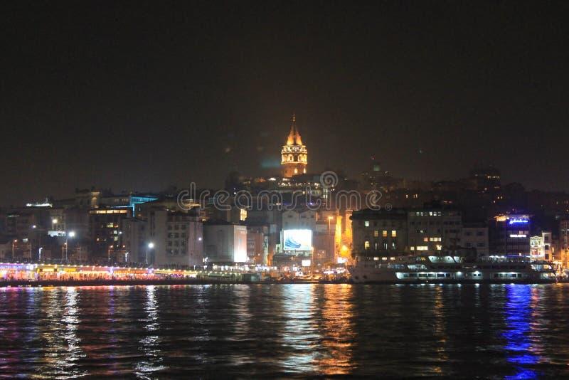 Istanboel - dat van Bosphorus wordt gezien royalty-vrije stock foto's