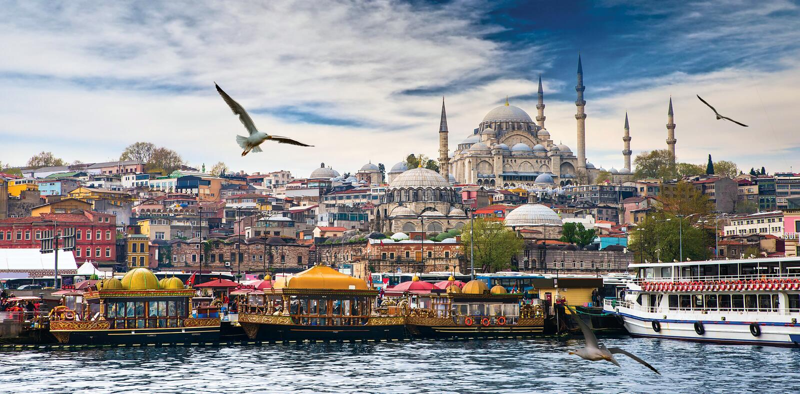 Istanboel de hoofdstad van Turkije stock foto's