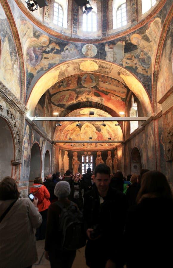 Binnenlandse mening van Kerk Chora royalty-vrije stock afbeelding