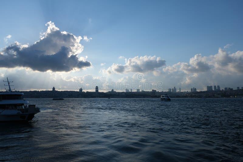 Istanboel, Turkije Bosphorus royalty-vrije stock foto's