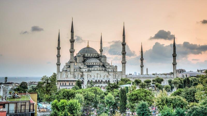 Istanboel, Turkije - Februari 9, 2013: Blauwe Moskee Sultanahmet Cami in Sultanahmet, Istanboel, Turkije royalty-vrije stock afbeelding