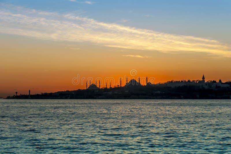 Istanboel, Turkije, 23 Januari 2012: Het Paleis en Hagia van Topkapi stock fotografie