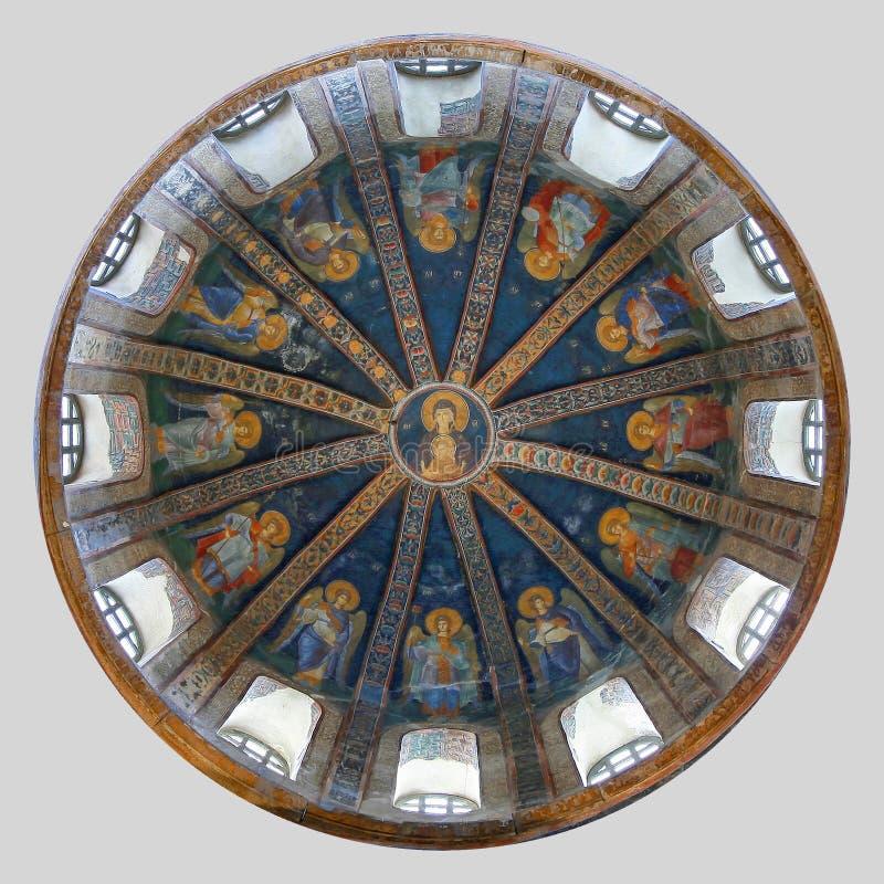 ISTANBOEL, TURKIJE - MAART 25, 2012: Fresko in Kerk van Christus de Verlosser stock fotografie