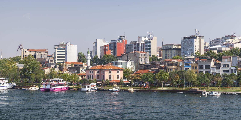 Istanboel, Turkije meta Sorrento en Vico Equense stock foto's