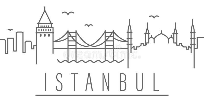 Istanbu? miasta konturu ikona Elementy miast i kraj ilustracja wektor