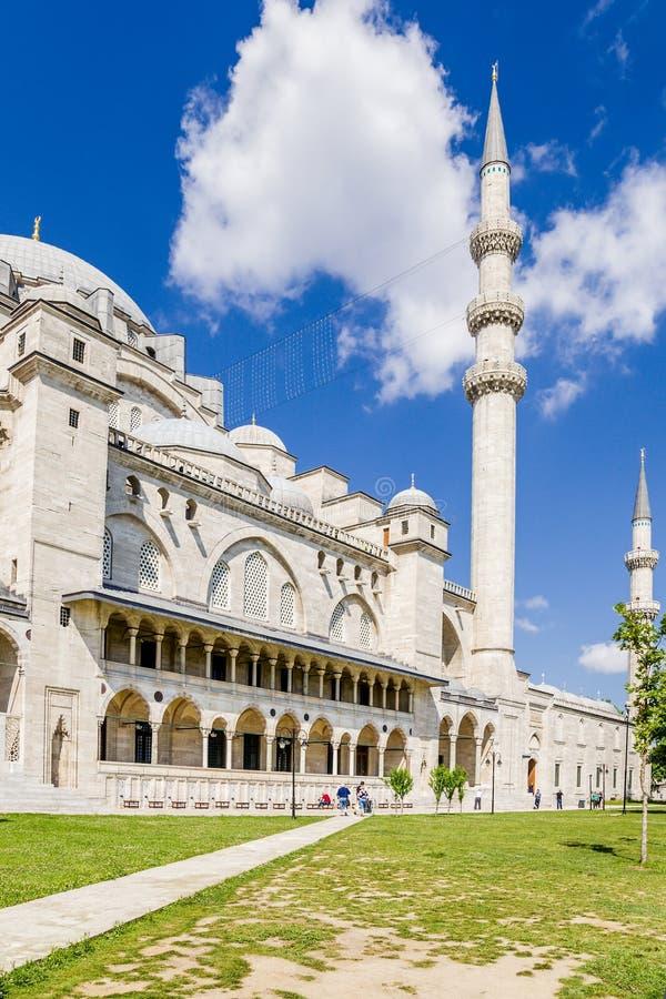 Istanbuł, Turcja Główny budynek SÃ ¼ leymaniye minarety i meczety obraz stock