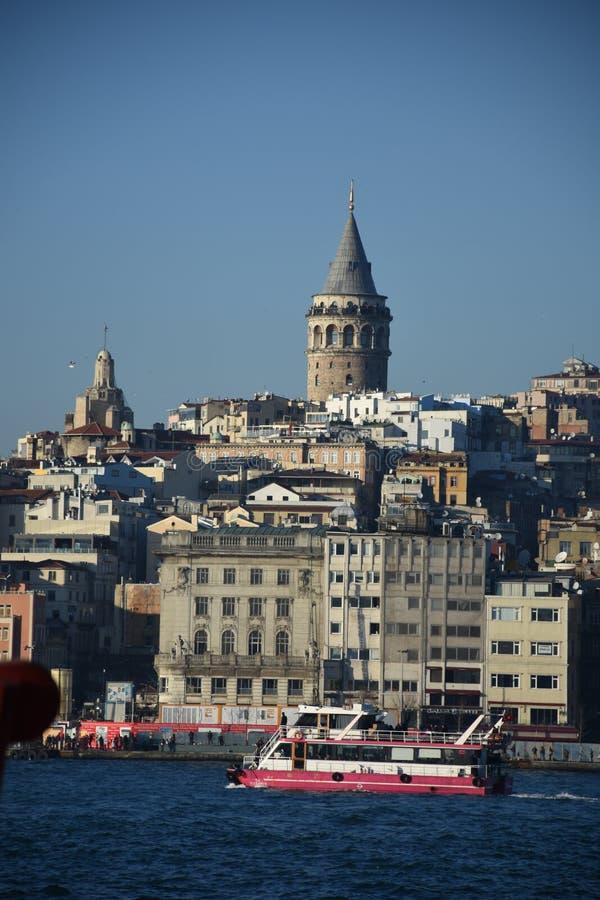 Istanbuł, Turcja Galata wierza zdjęcia stock