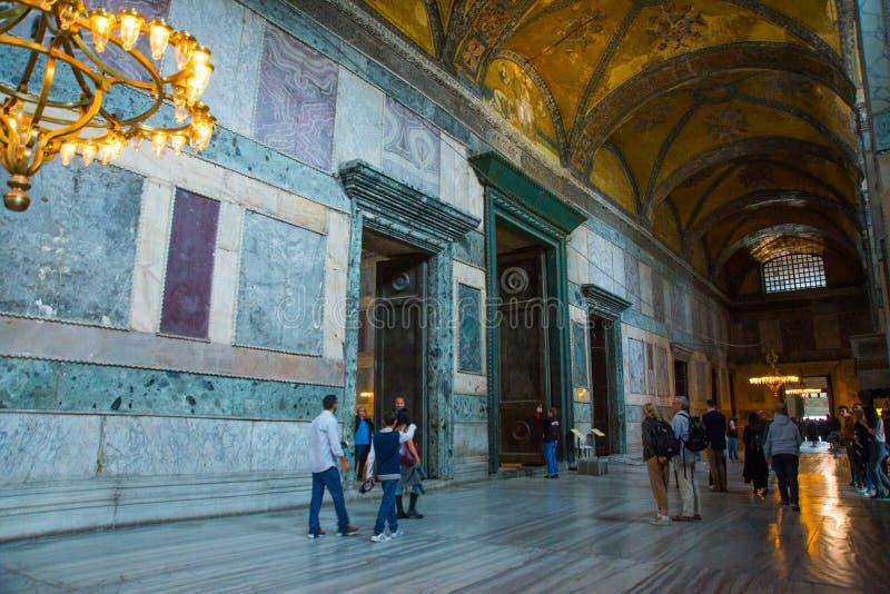 ISTANBUŁ, TURCJA: Hagia Sophia wnętrze Hagia Sophia jest wielkim zabytkiem Bizantyjska kultura zdjęcia royalty free