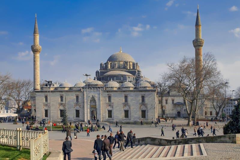 ISTANBUŁ TURCJA, MARZEC, - 26, 2012: Sułtanu Bayazid ` s meczet obraz stock
