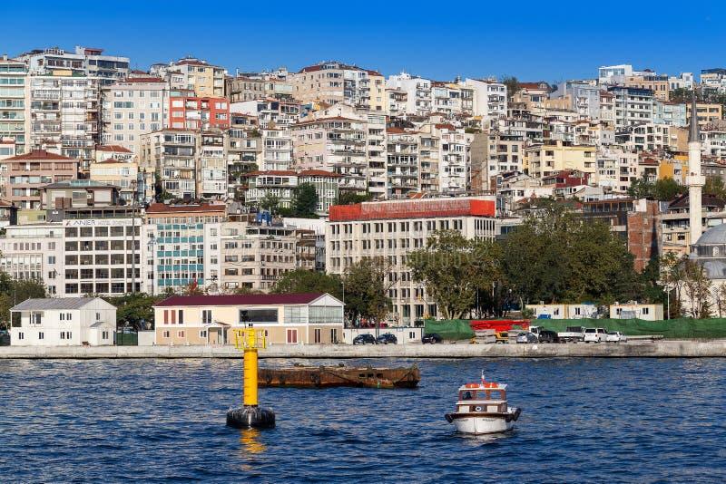 Istanbuł Turcja, OCT, - 23, 2017: Bosphorus cieśnina, Istanbuł, Turcja zdjęcie royalty free