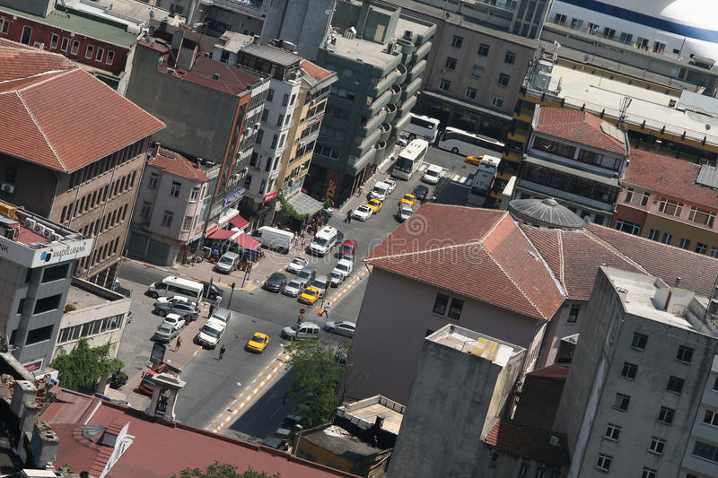 Istanbul from above royalty free stock photos