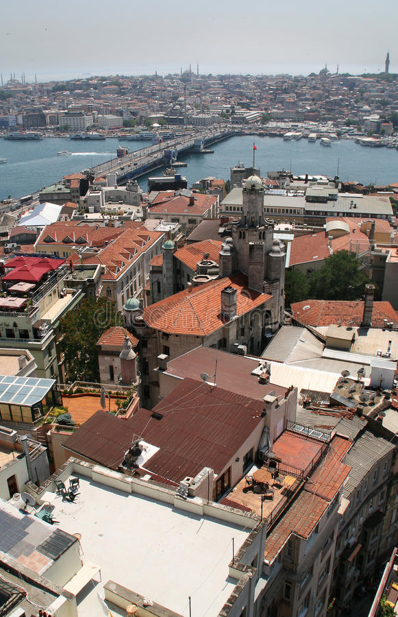 Istanbul aerial view royalty free stock images
