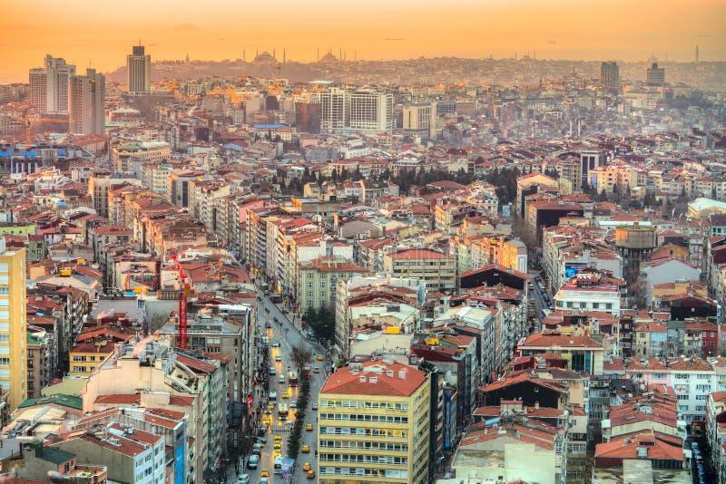 Istanbul al tramonto - Turchia fotografia stock libera da diritti
