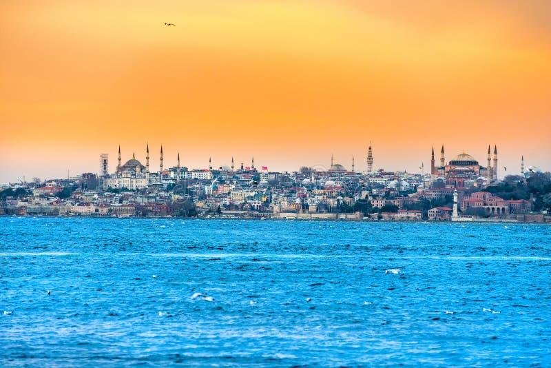 Istanbul al tramonto - Turchia immagini stock libere da diritti