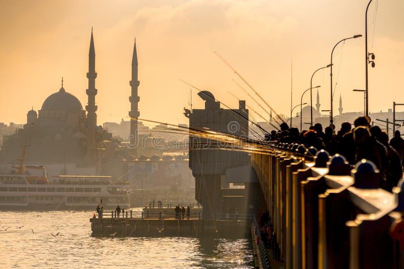 Istanbul al tramonto - Turchia immagini stock