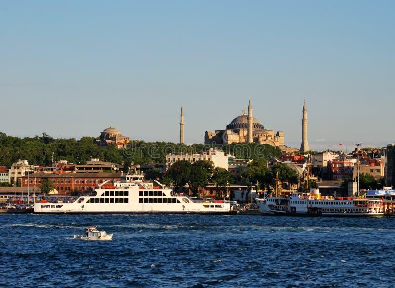 Istanbul-Ansicht von Sultanahmet, Hagia Sophia stockfoto