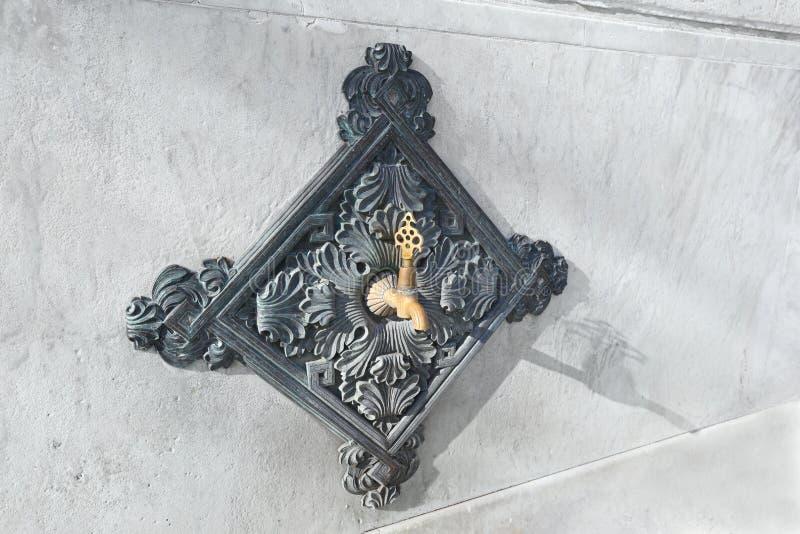 Ornate fountain tap from the Ottoman era. Istanbul Architectural Details: Ornate fountain tap from the Ottoman era royalty free stock photos
