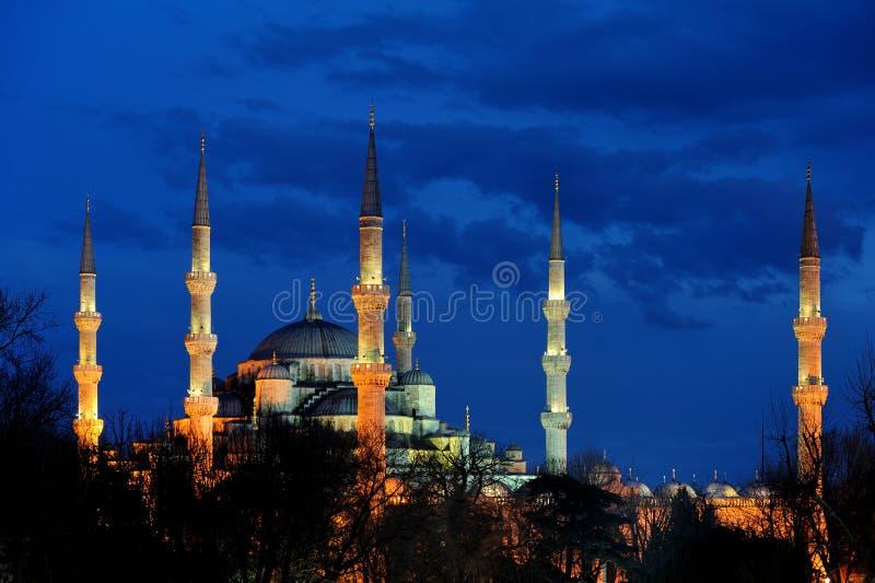 Istanbul. Blå moské arkivbilder