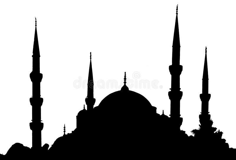 Istanbul - blaue Moschee lizenzfreie abbildung