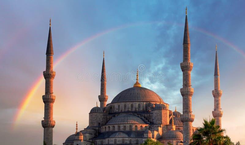 Istanbul - blaue Moschee, die Türkei stockfotografie