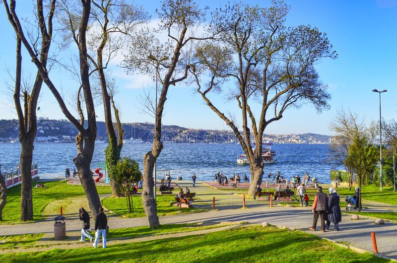 Istanbul Bosphorus au printemps images libres de droits