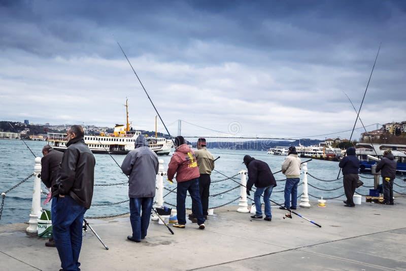 Istanbul at the Bosphorus bonito, bluefish, mackerel, sardines,. Istanbul, Turkey - December 4, 2013: Istanbul at the Bosphorus bonito, bluefish, mackerel royalty free stock photo