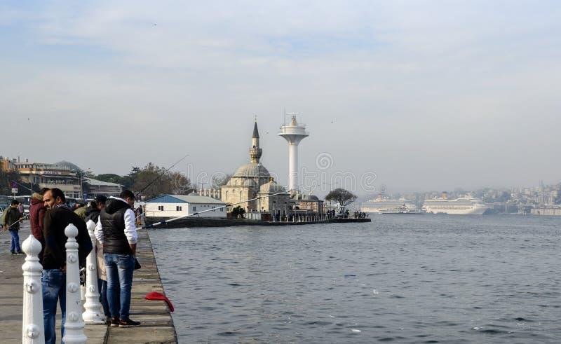 Istanbul at the Bosphorus bonito, bluefish, mackerel, sardines,. Istanbul, Turkey - November 9, 2014: Istanbul at the Bosphorus bonito, bluefish, mackerel stock image