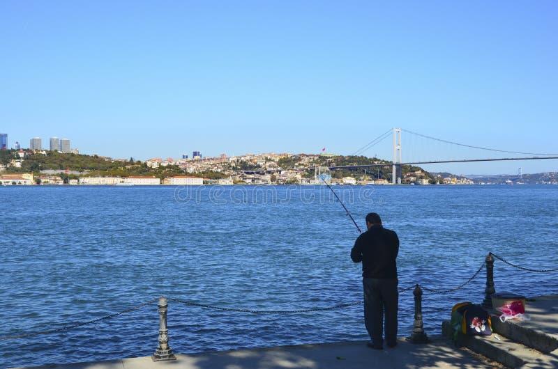 Istanbul at the Bosphorus bonito, bluefish, mackerel, sardines,. Istanbul, Turkey - October 20, 2013: Istanbul at the Bosphorus bonito, bluefish, mackerel stock photo
