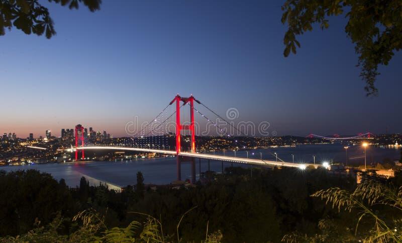 Istanbul. Bosphorus Bridge, Turkey stock photos