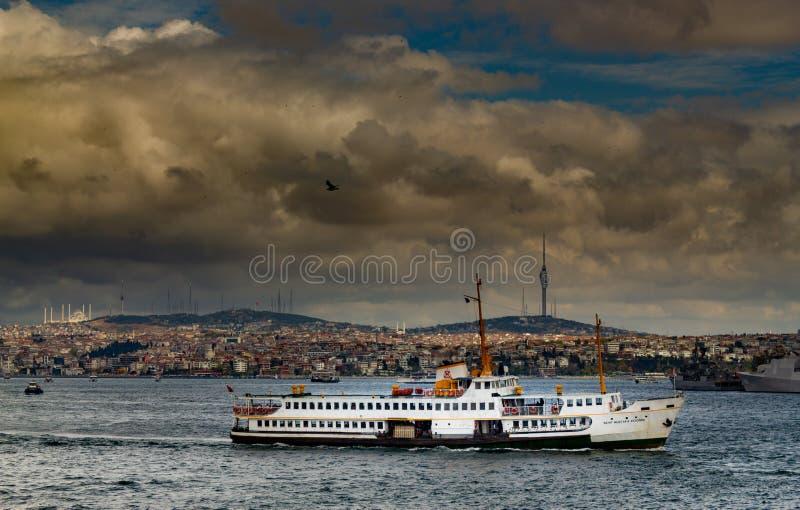 Istanbul bosphorus city ferry boat stock image