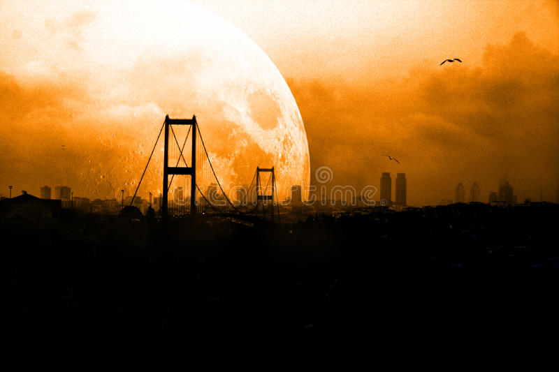 Istanbul bridge royalty free stock image