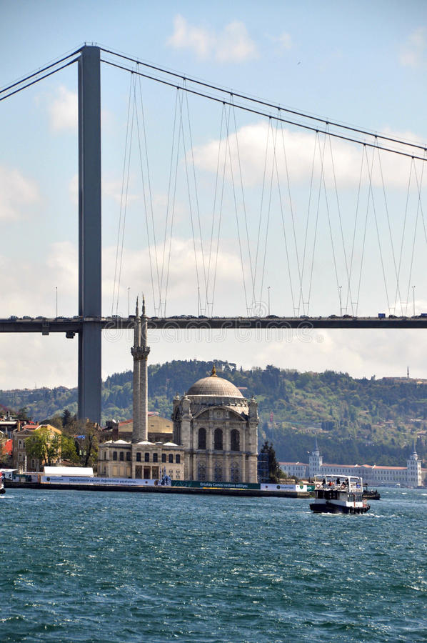 Istanbul Bridge stock photography